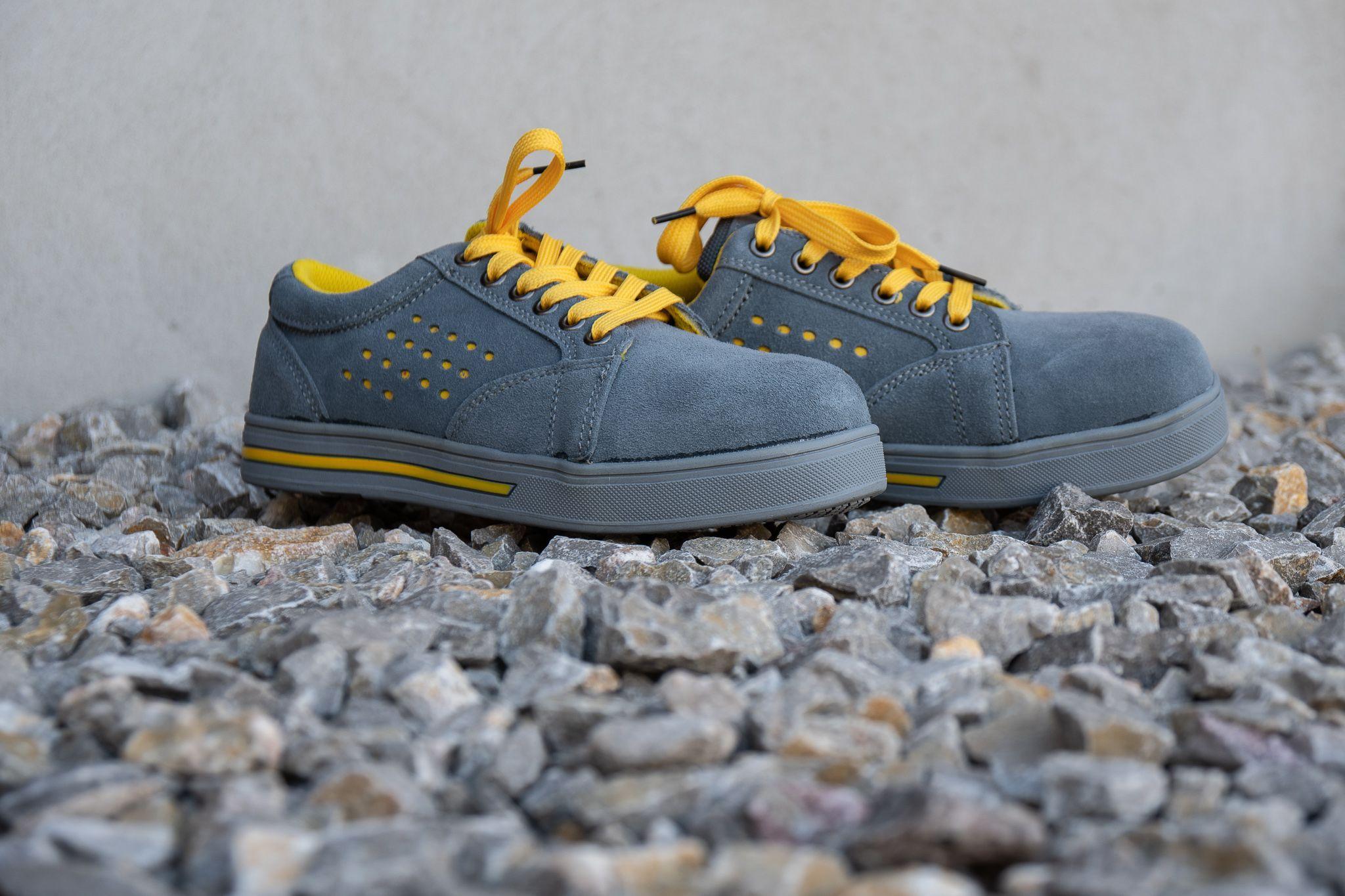 Damskie Buty Robocze Sneakersy Szare Trampki Ochronne Work Shoes Women Womens Shoes High Heels Work Shoes