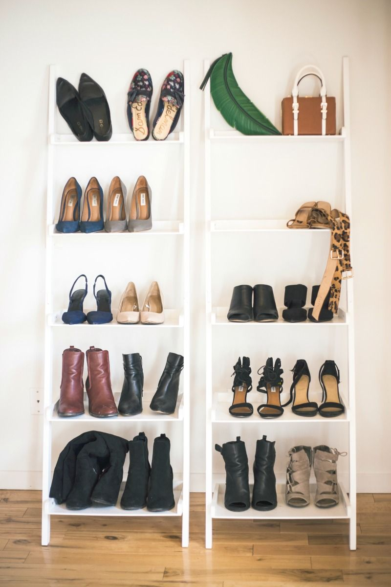 Loft Apartment Decor: Cute Shoe Storage