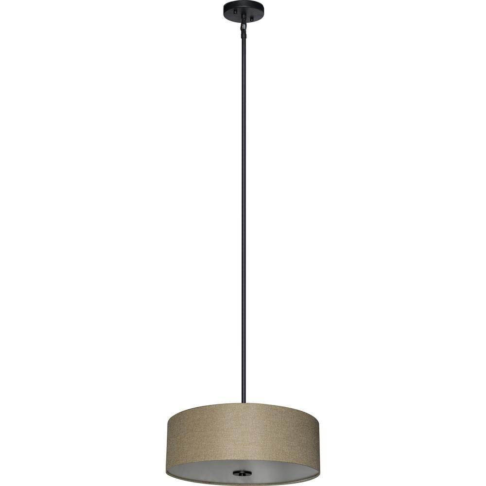 Illumine 4 light ebony bronze chandelier with woven basket fabric illumine 4 light ebony bronze chandelier with woven basket fabric shade aloadofball Image collections