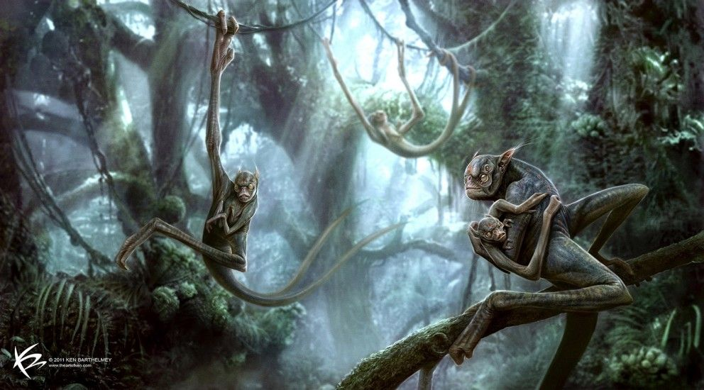 Concept Art: Alien-Apes - 2D Digital, Concept art, Fantasy, PhotoshopCoolvibe – Digital Art