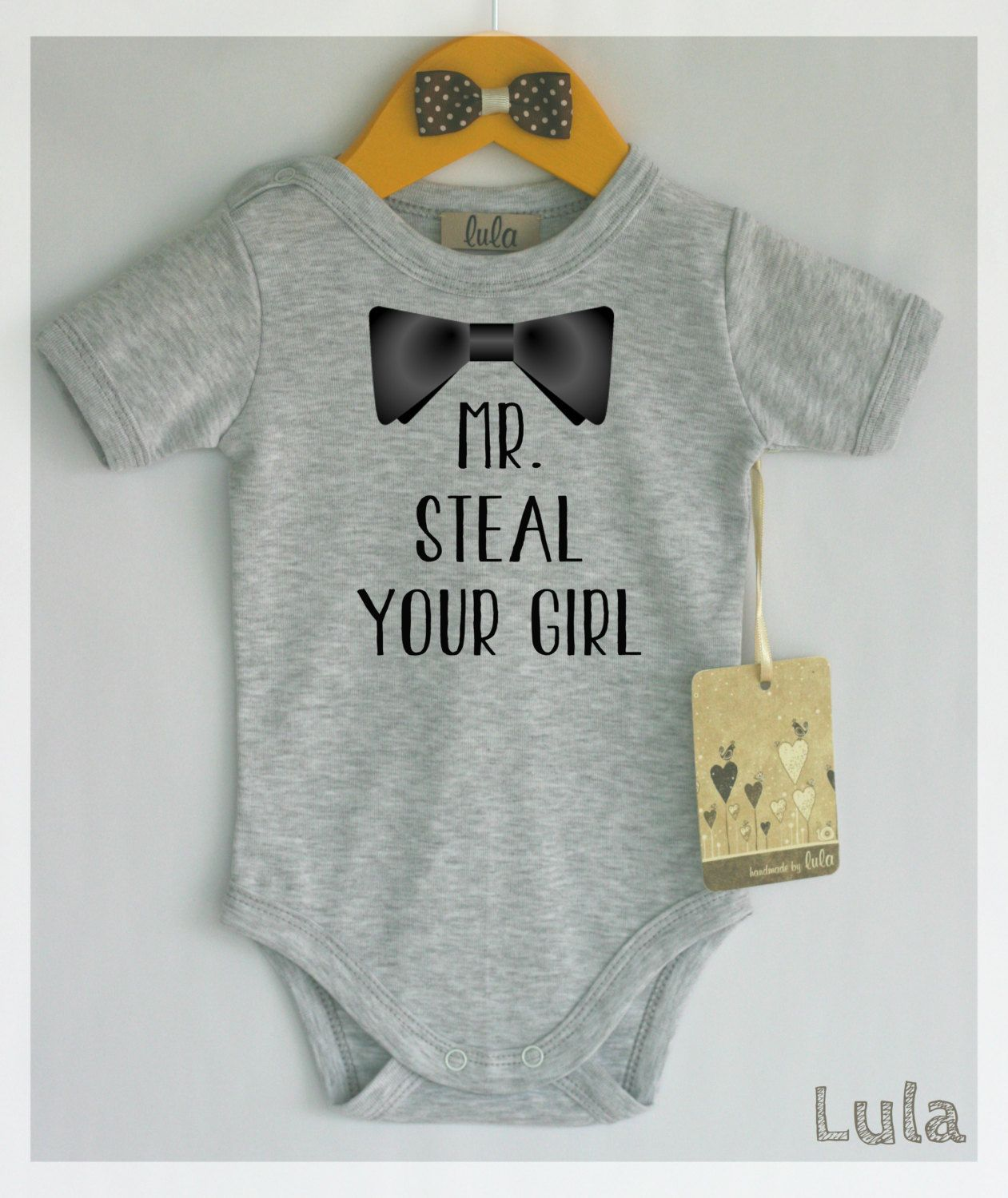 d2db9bbd3c88 Funny baby boy clothes. Mr. steal your girl baby romper. Baby boy cute
