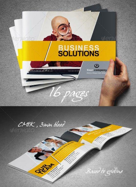 Desain Booklet Template Premium Download  Contoh Katalog Dan