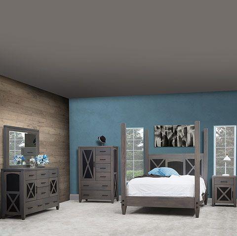 Nasua Bedroom Furniture Set Amish Furniture by Cabinfield