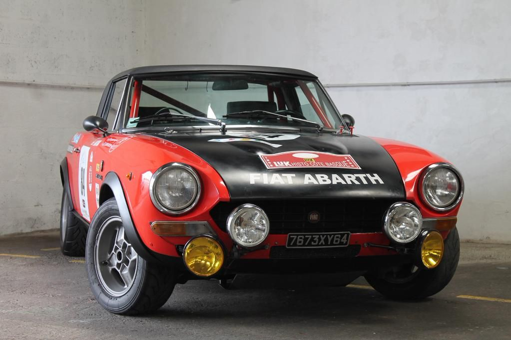 Group 4 Fiat 124 Abarth Rally with FFSA HTP (Via @Bscc_JFL) Historic Rallying ThrowbackThursday