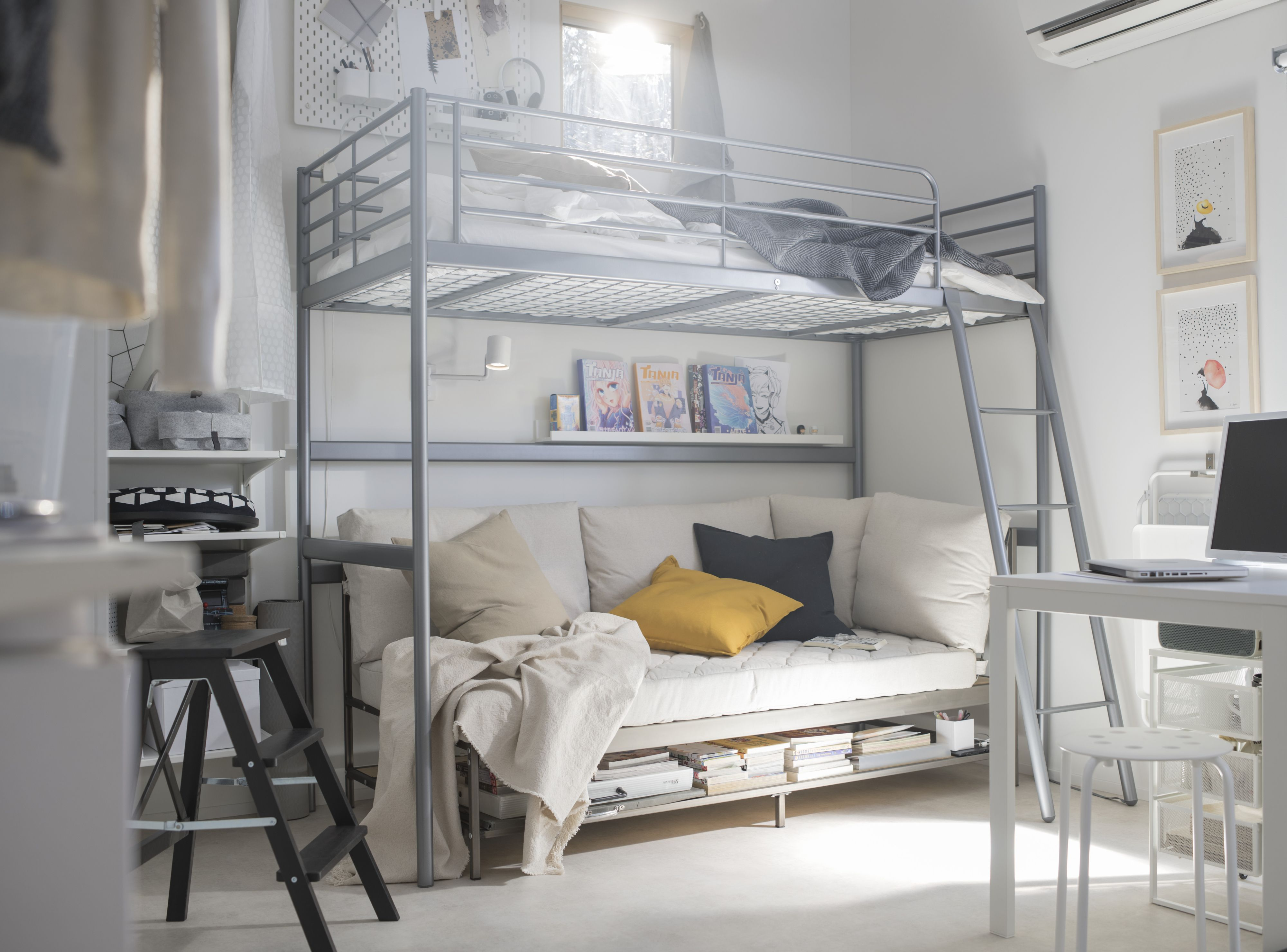 Level Up With The Svarta Twin Loft Bed Frame Create Space For