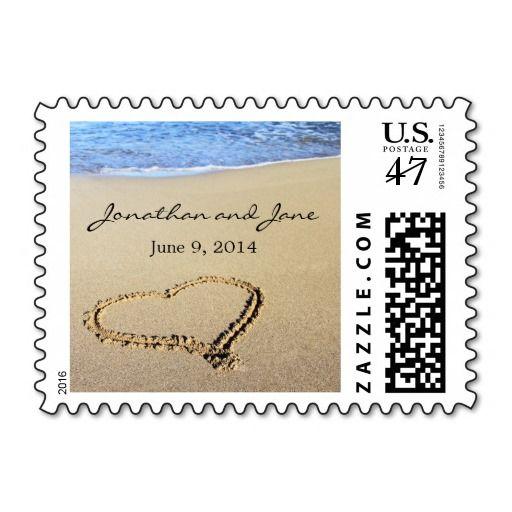 Beach Ocean Wedding Stamps   Zazzle com   Wedding Postage