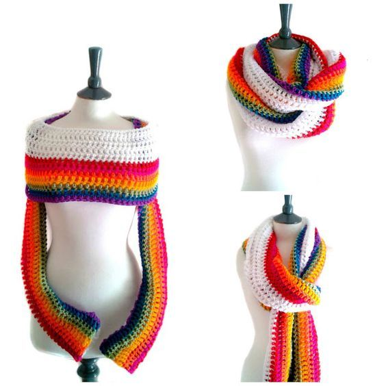 Rainbow Sleeve Scarf