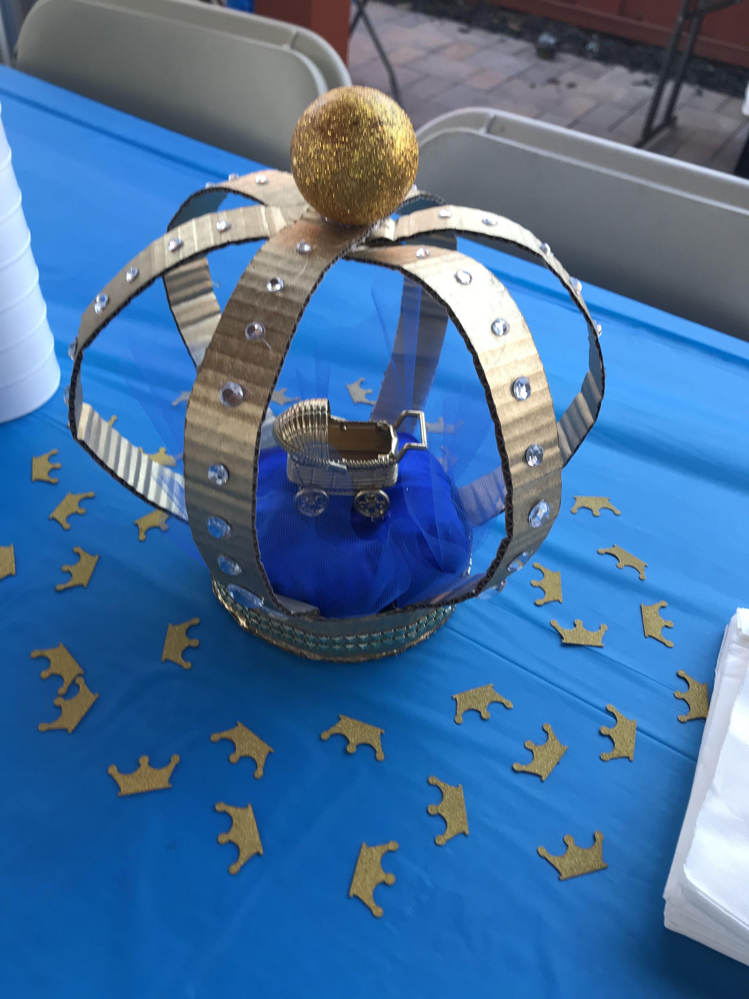 Crown centerpiece 1st boy birthday, Crown centerpiece