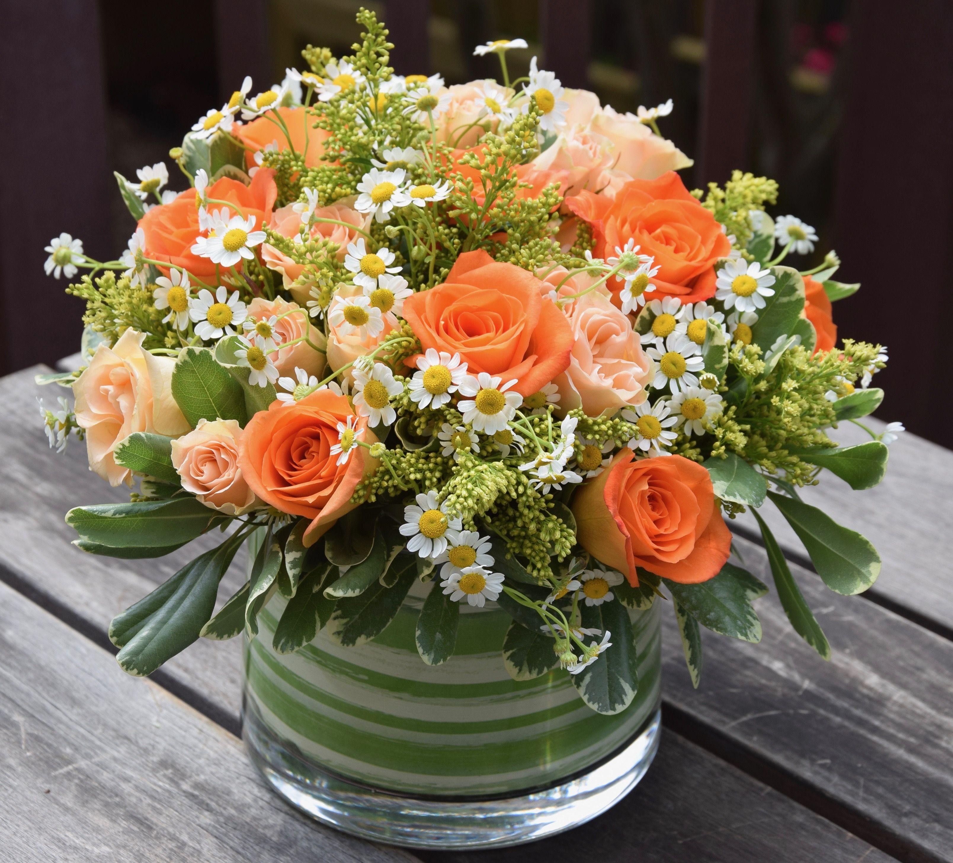 Spring flower arrangement. Spring flower arrangements