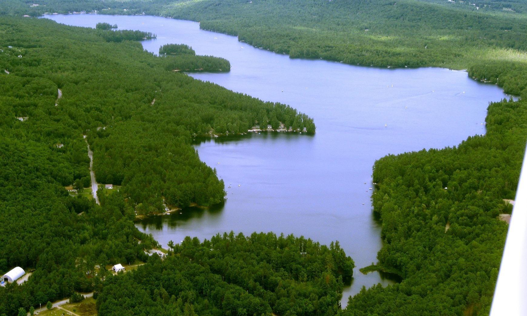Crescent Lake In Raymond, Maine