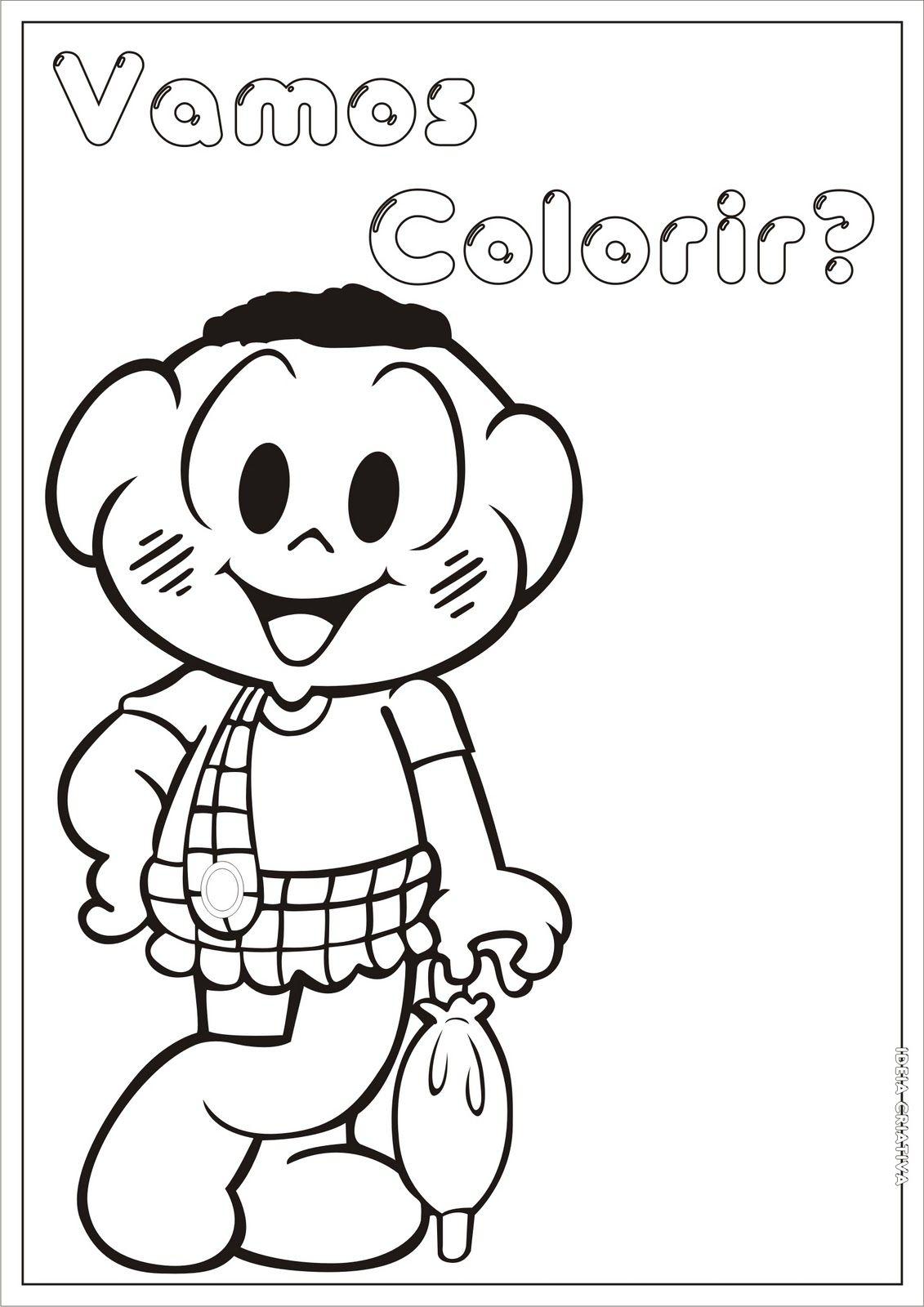 Desenhos Para Colorir Para Colorir Turma Da Monica Monica Para