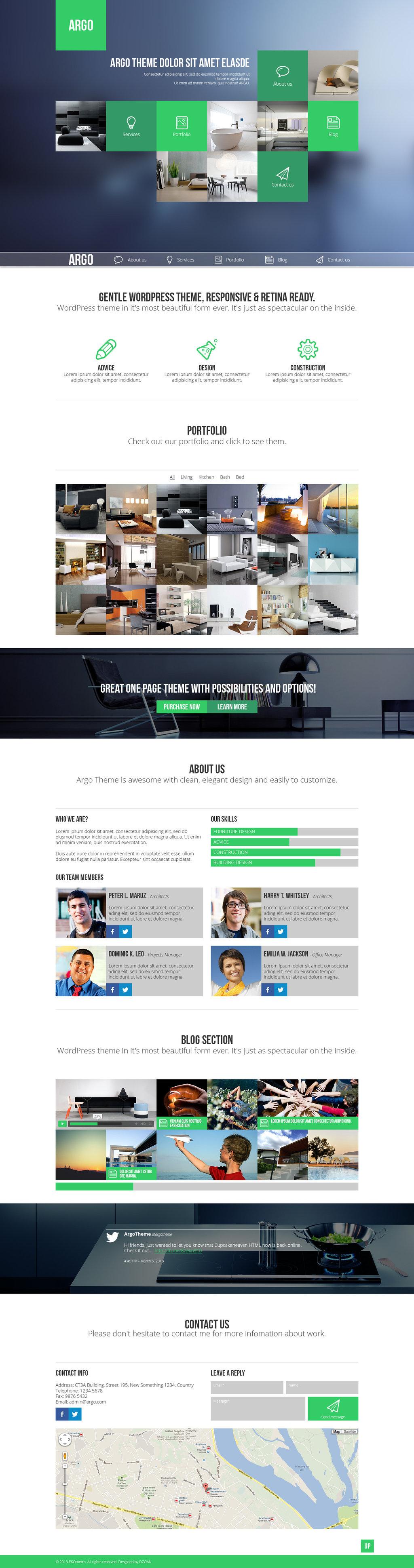 Argo One Page Portfolio Psd Template Web Design Web Design Inspiration Web Development Design