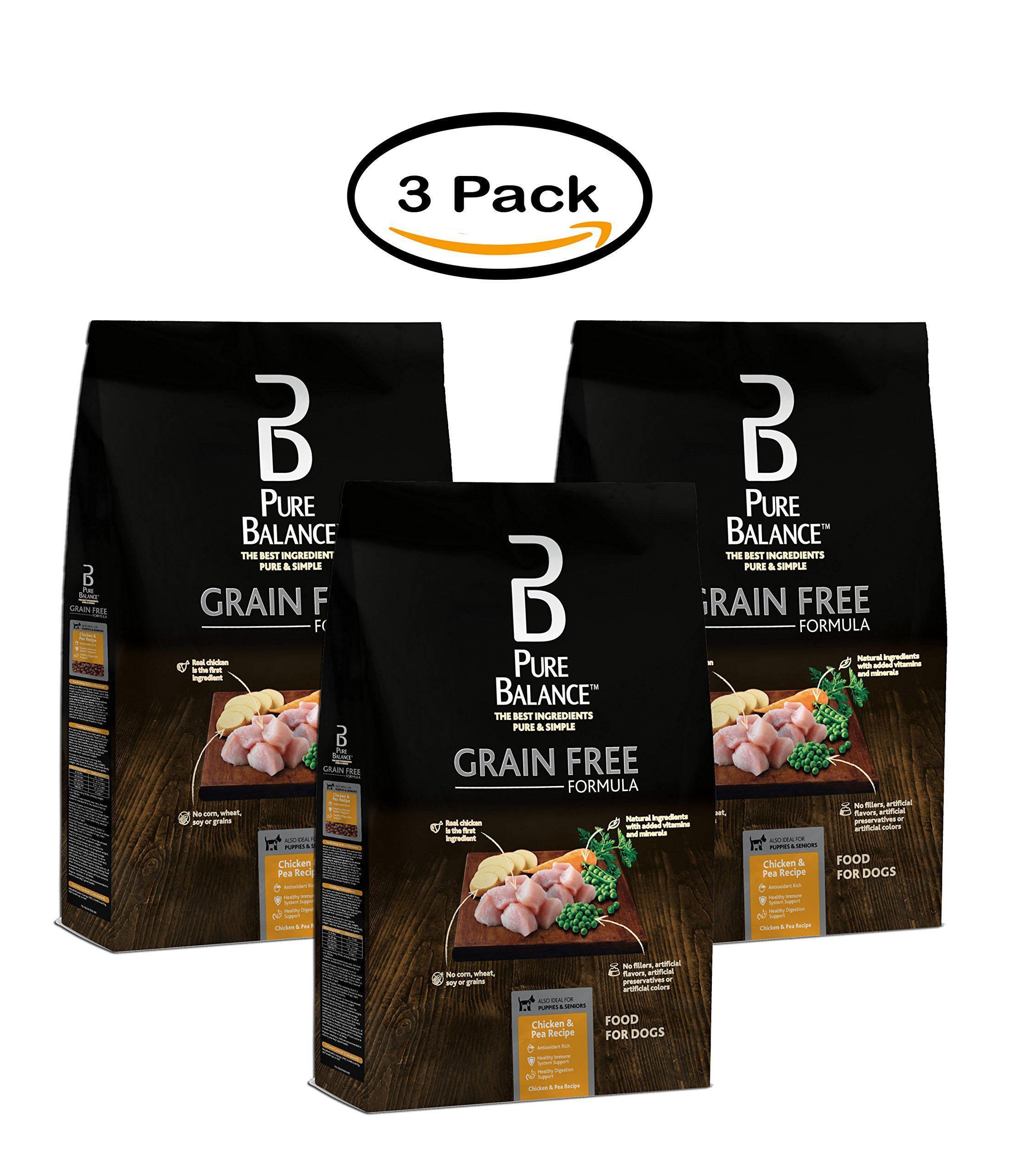 Pack Of 3 Pure Balance Grain Free Chicken And Pea Recipe Food For