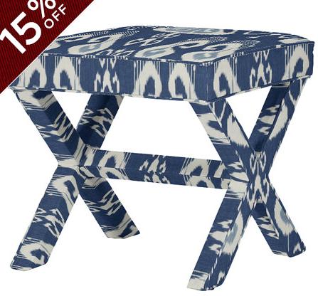 2 Toscana Ikat Blue X Stools. $ 499 @ 15% = $850 | Homepolish ...
