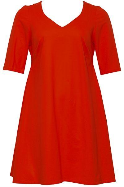 b4302d67 Plus size Tunika kjole i rød jersey #Plus size | Røde kjoler | Plus ...