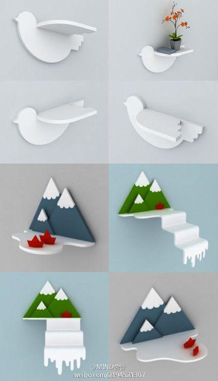 bird shaped shelf