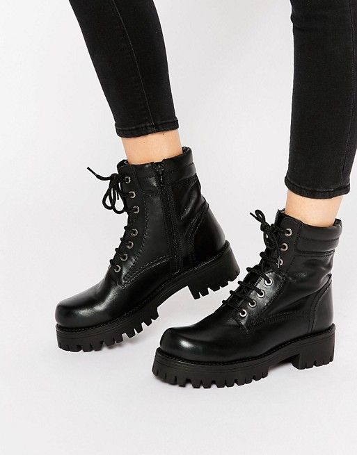 Park Lane Chunky Lace Up Leather Ankle Boots   Fashion   Boots ... d026c4b0be1