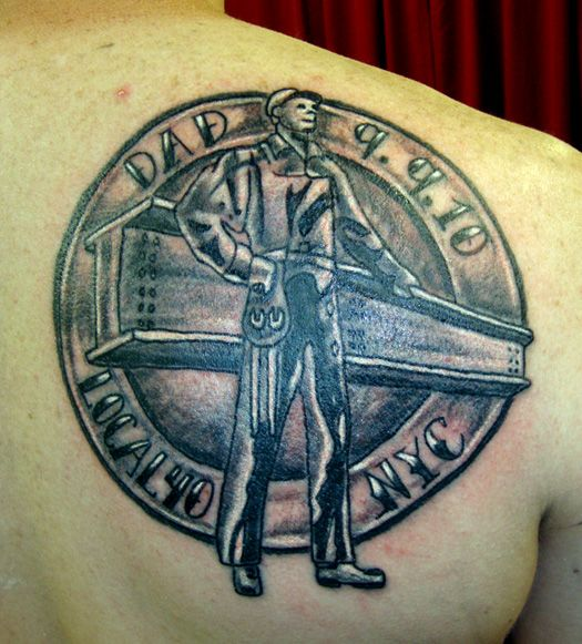 Tribute To An Iron Worker Tattoo Leighodom13 Gmail Com