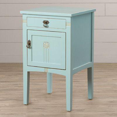 Corrie 1 Drawer Nightstand Blue Nightstands Furniture Drawer Nightstand