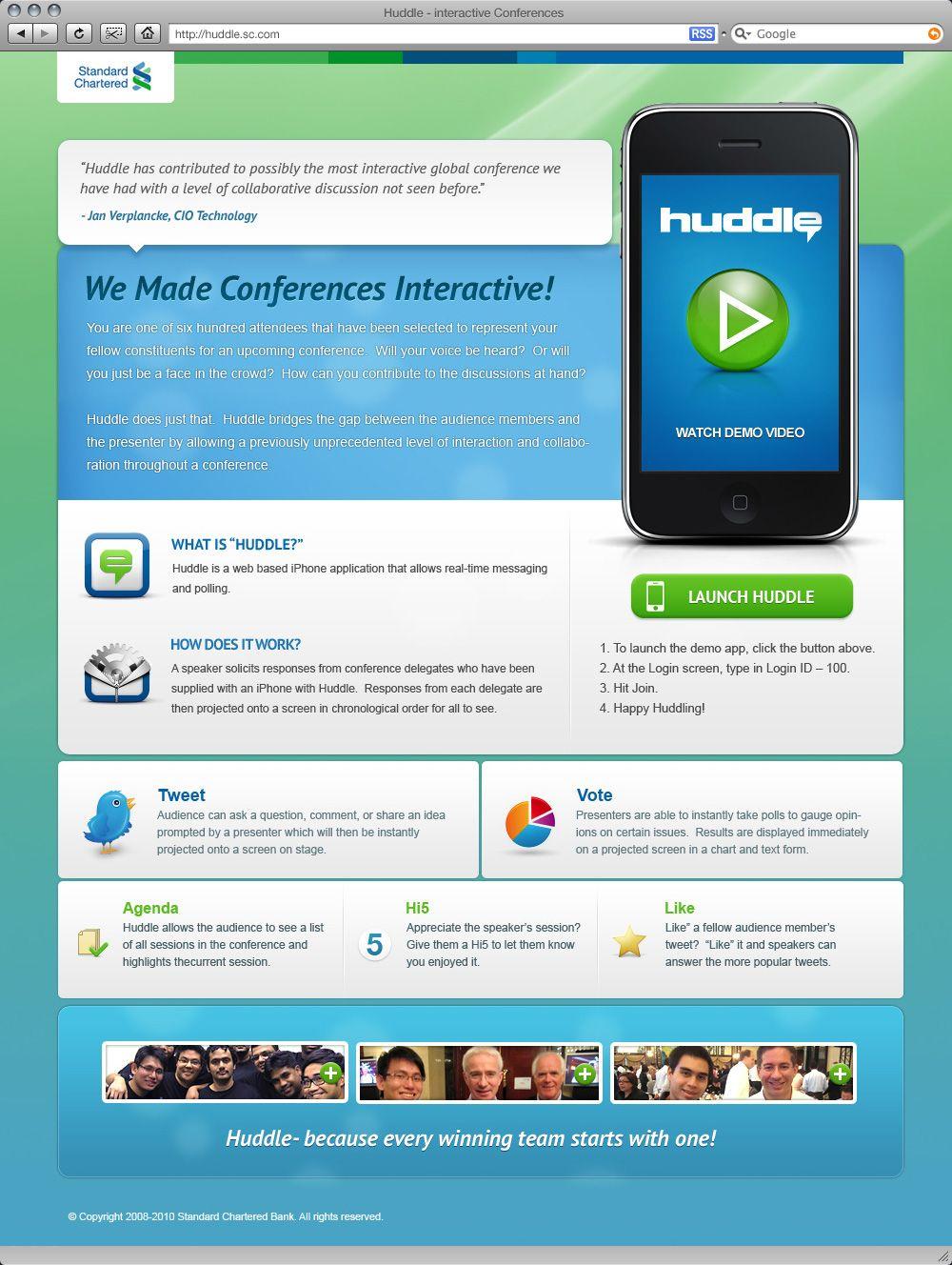 Design Web Huddle Standard Chartered Http Xtrudestudios Com Http Huddle2 Com Huddle Mov Demo Video Web Design Interactive