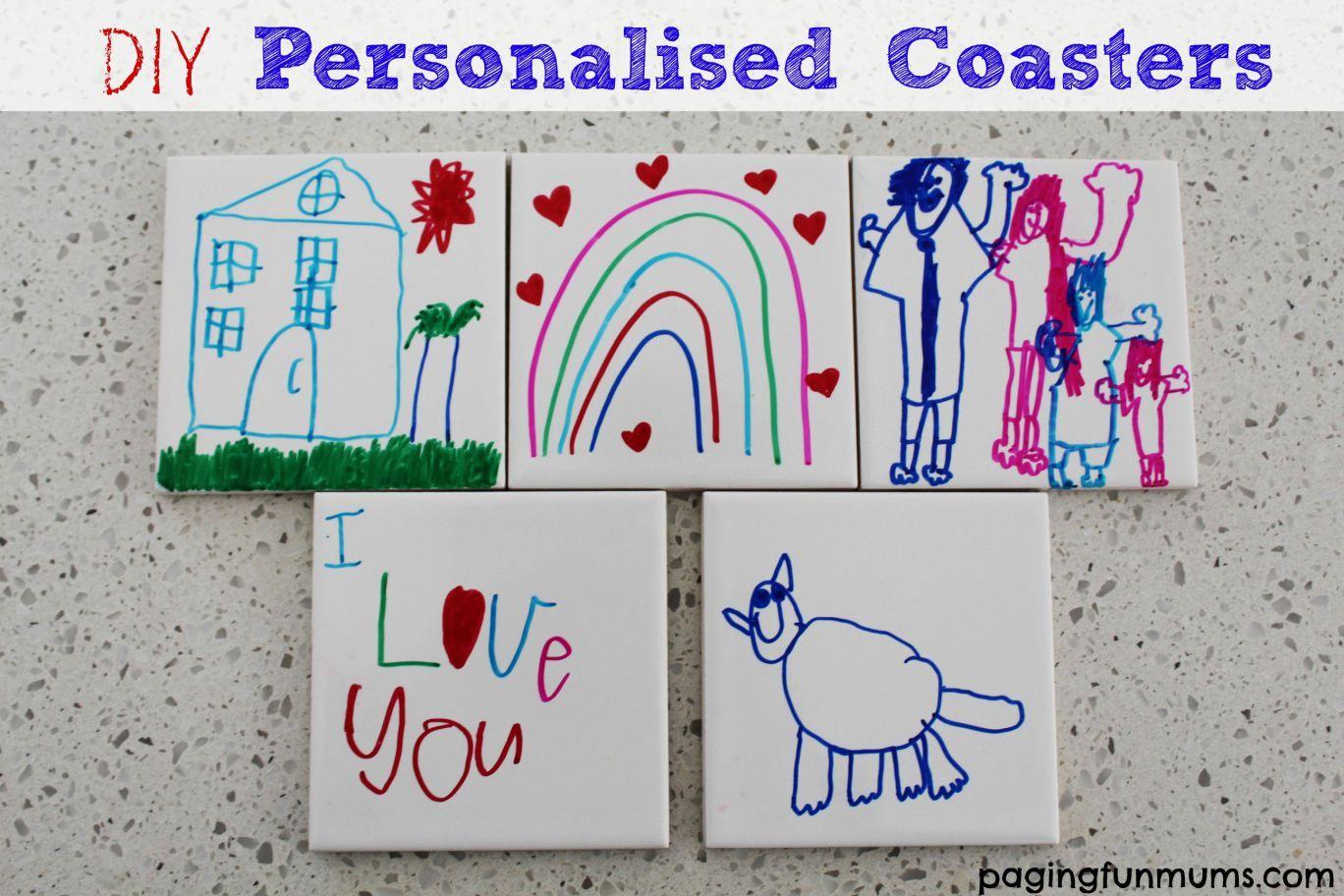 DIY Personalised Coasters