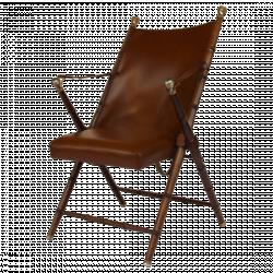 Fauteuil pliant en bois, cuir et simili cuir | 100% EXTREME