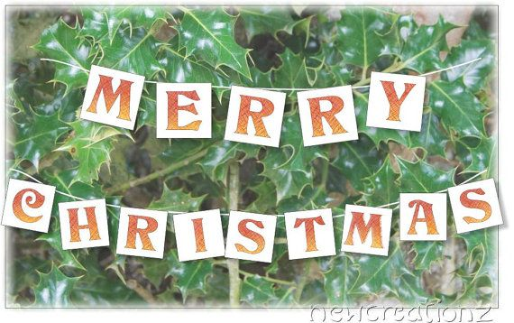 Holiday card Handmade Merry Christmas Holly by NewCreatioNZ, $5.00