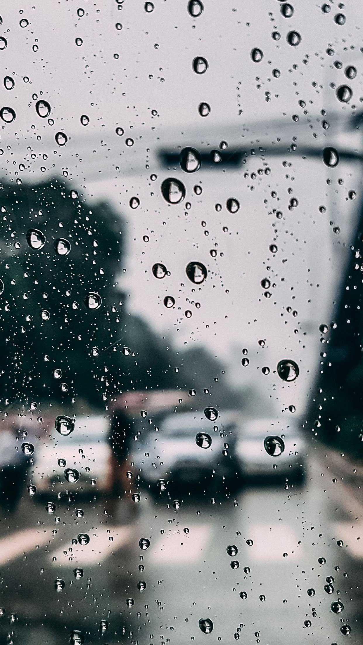 Glass drops rain Iphone Wallpapers Hd in 2020 Iphone