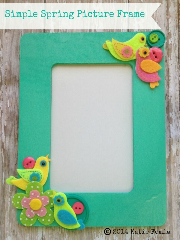 Learn how to make this adorable and simple spring picture frame ...