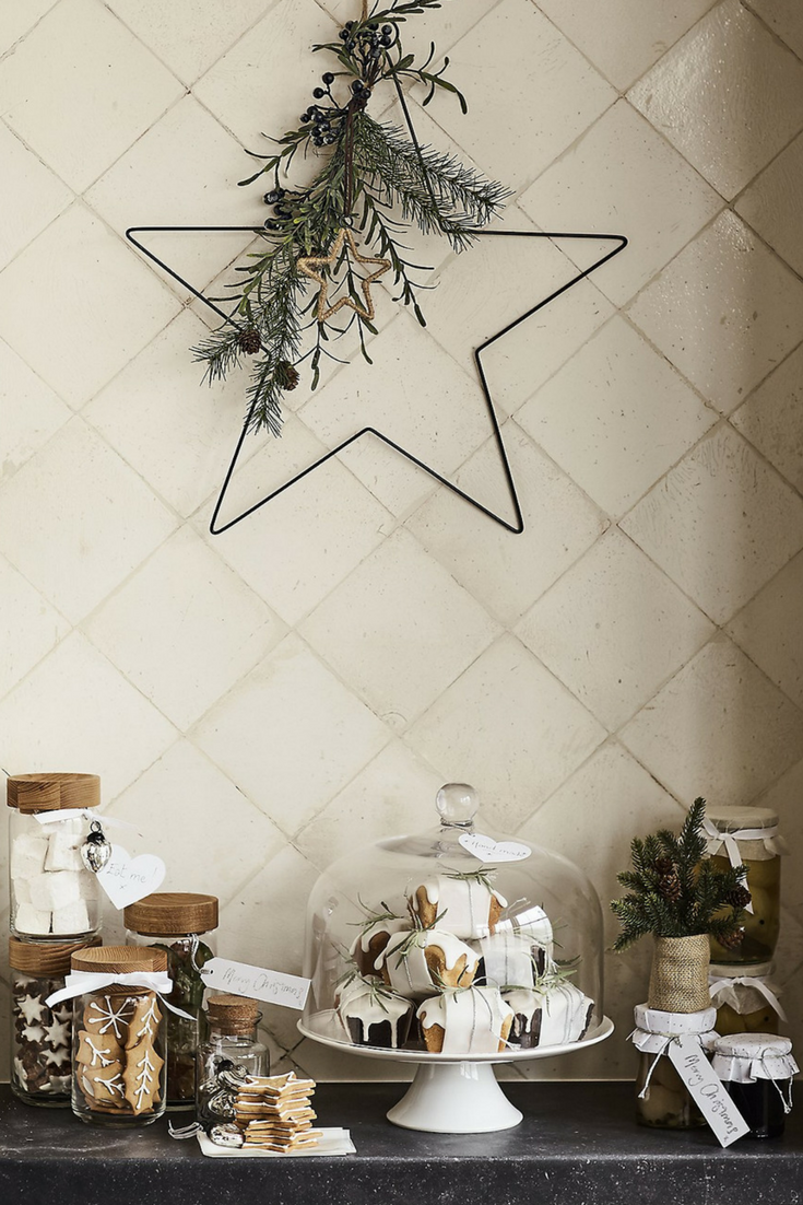 Nordic Star From The White Company 35 This Understated Scandi Inspired Wreath Star Decorations Christmas Star Decorations Scandinavian Christmas Decorations