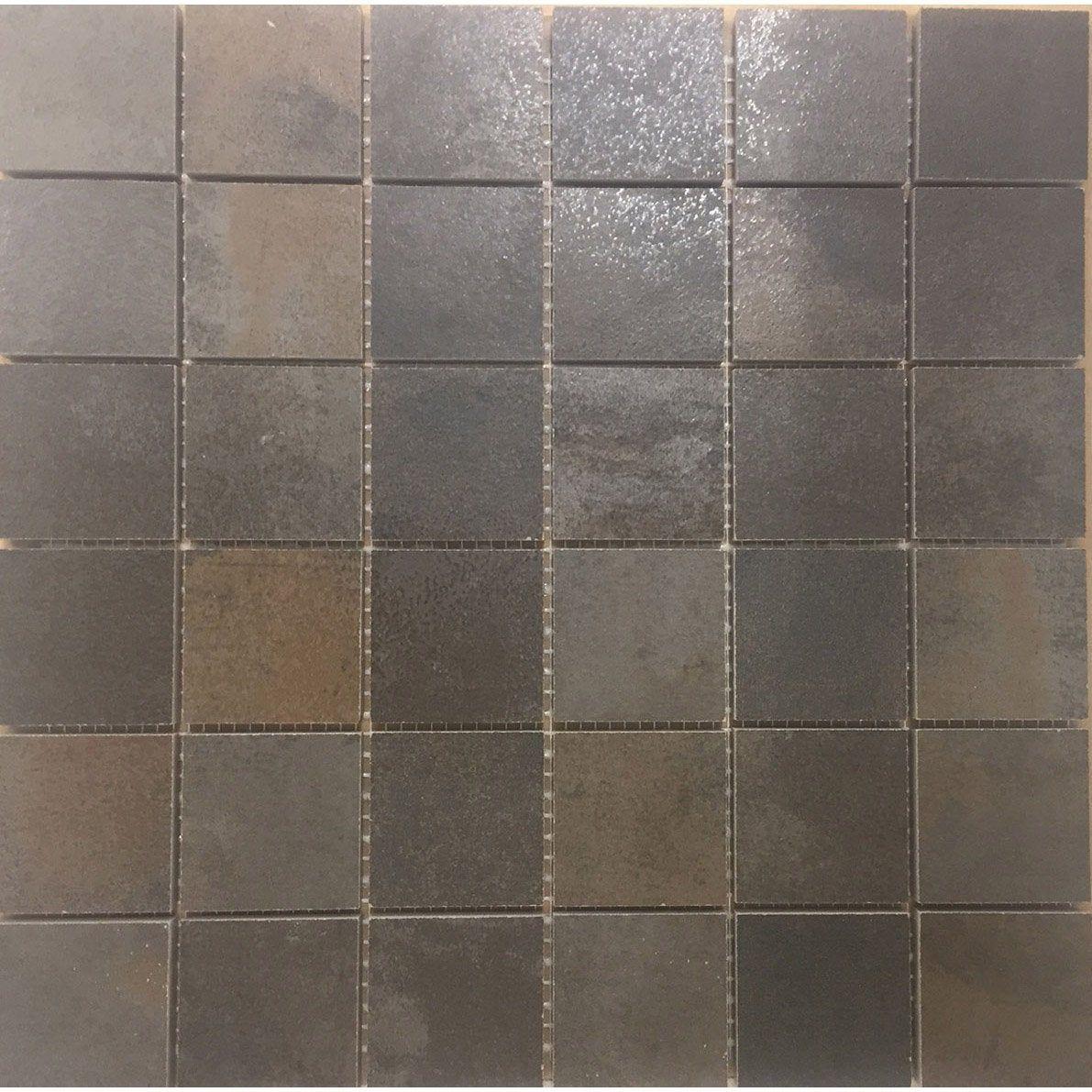 Mosaique Sol Et Mur Lamiera Marron 5 X 5 Cm Sol Et Mur Sol Mur