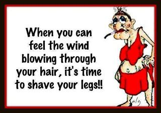Wind Blowing Through Your Hair Funny Facebook Quote Funny Quotes Funny Facebook Status Shaving Legs Funny