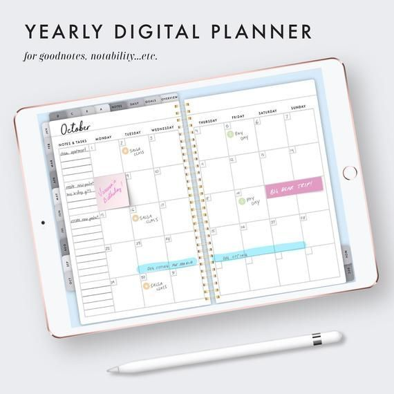 IPad planner goodnotes digital planner notability planner | Etsy