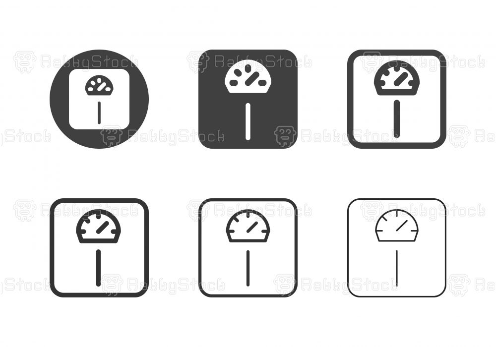 Weight Scale Icons Multi Series Vector Eps File Weight Scale Pictogram Design Icon