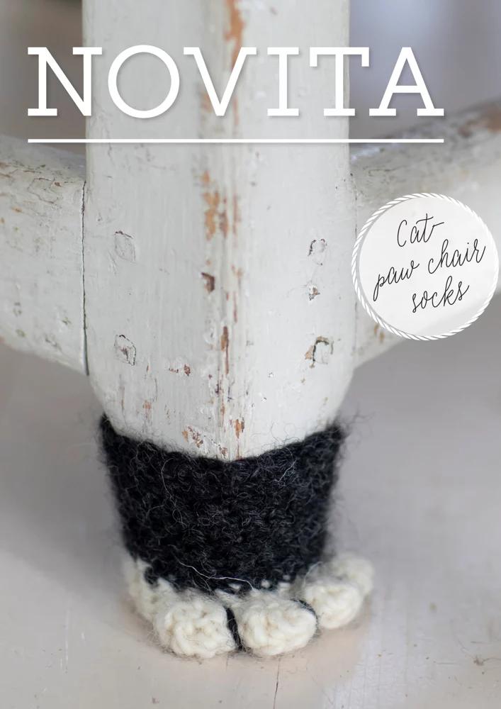 Cat Paw Chair Socks in Novita Natura Downloadable PDF