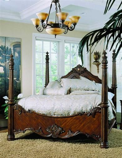 Pulaski Pulaski Edwardian King Poster Bed, Offered By Pulaski Furniture,  Browse Our Great Selection Of Wood Beds