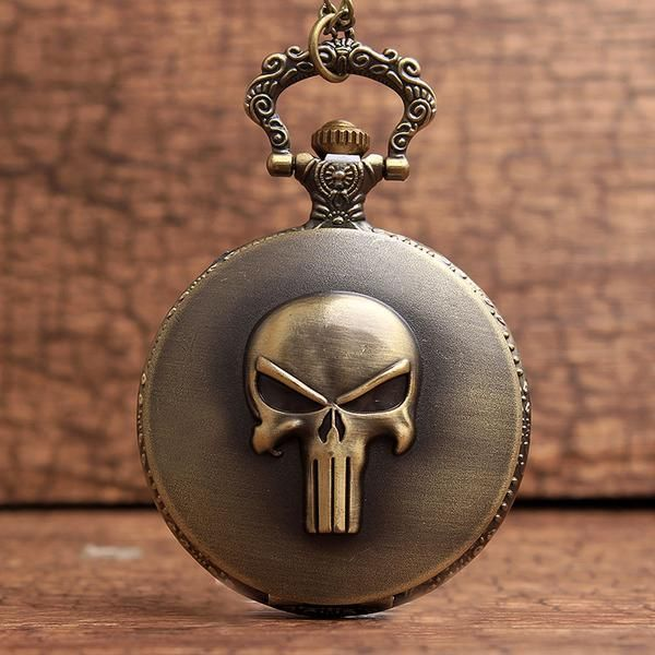 847027f2c Punisher Skull Pocket Watch – uShopnow store Sale! Up to 75% OFF! Shop at  Stylizio for women's and men's designer handbags, luxury sunglasses, watches,  ...