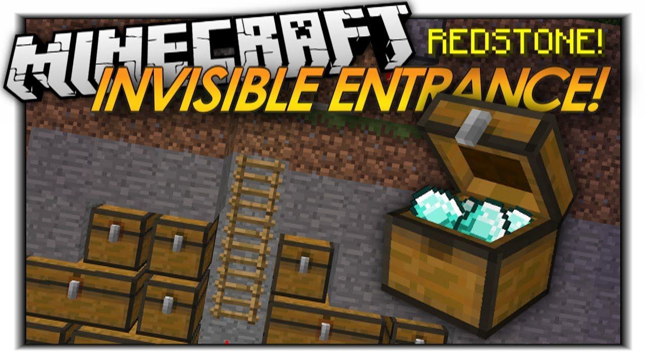 Minecraft Redstone INVISIBLE ENTRANCES! HIDDEN DOORS