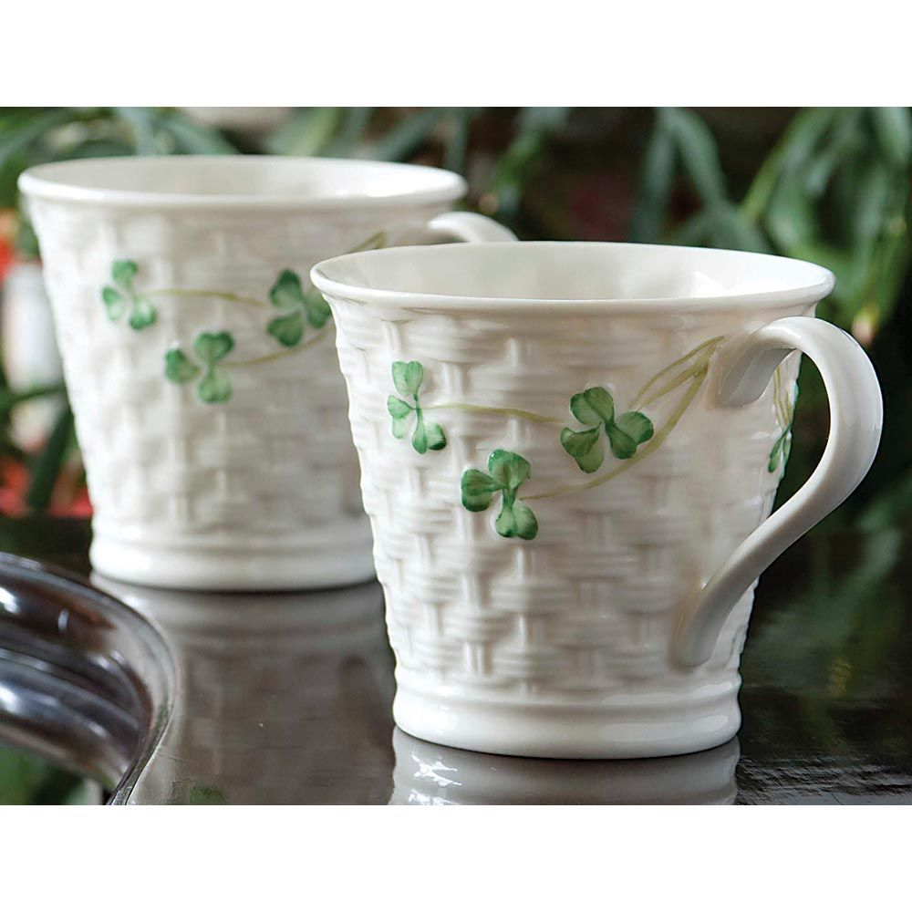 Belleek mugs set of 2 there is nothing like drinking