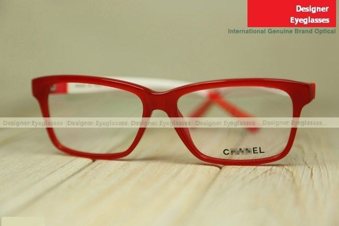9166ac5990 Chanel 3274 fashion women glasses frame red white