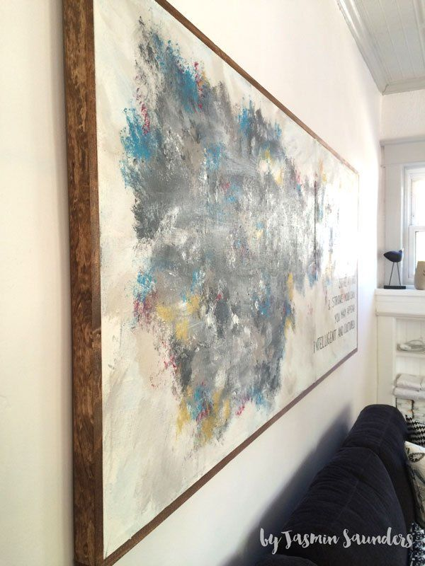 How To Hang Large Painting On Plaster Walls The Foolproof Way Large Painting Painting Hanging