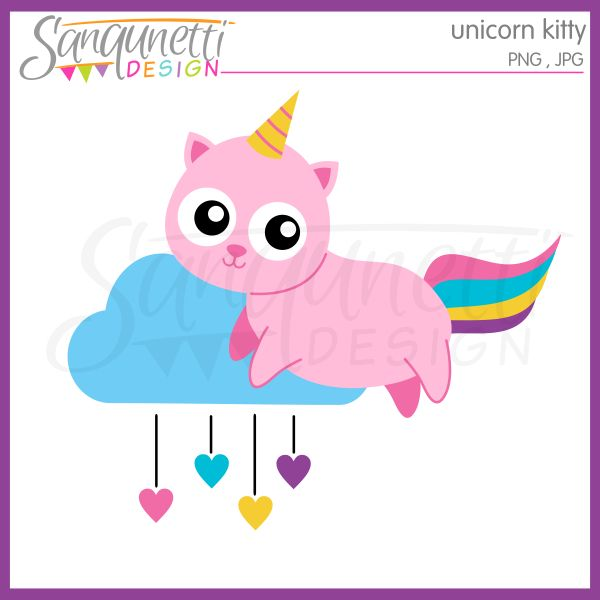 Sanqunetti Design: Unicorn Kitty Clipart