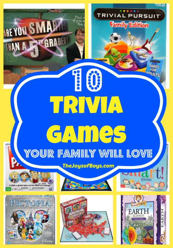 10 Trivia Games Your Entire Family Will Love