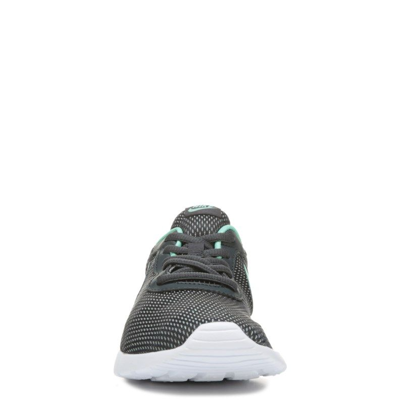 Nike Kids' Tanjun Running Shoe Grade School Shoes (Grey/Mint)
