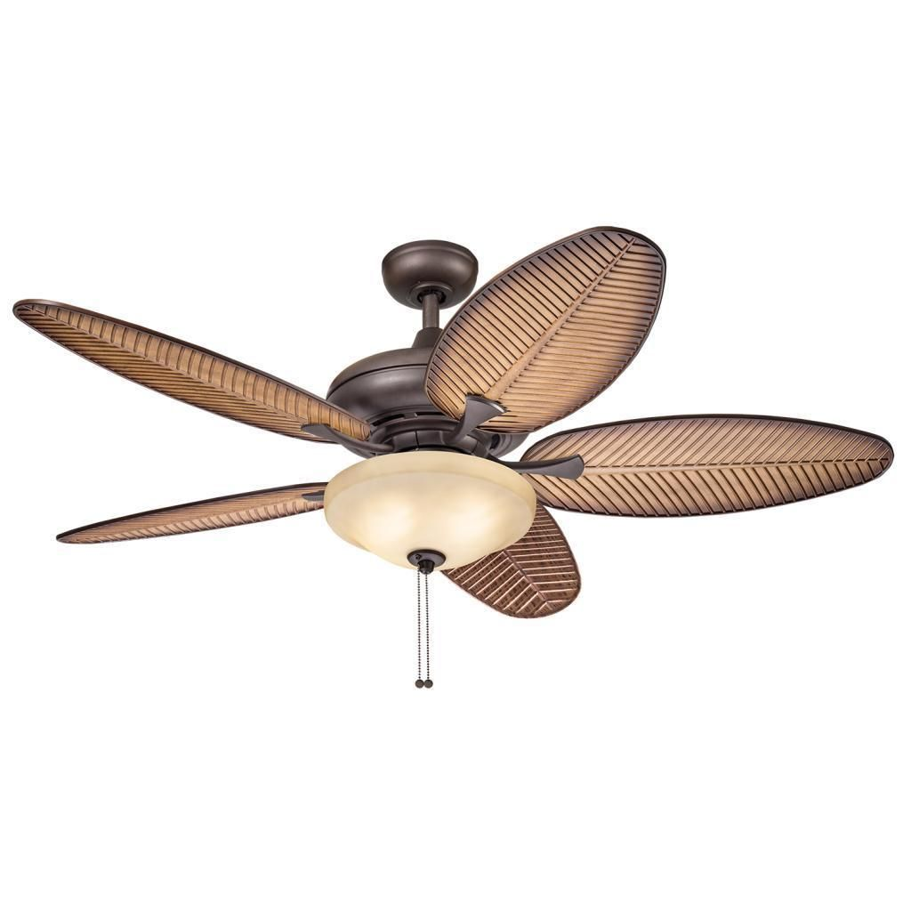 This 52 Inch Ceiling Fan Features A Bronze Finish And