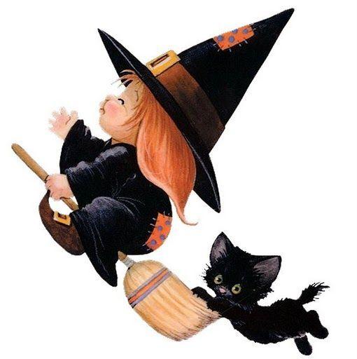 Linda Bruxinha Bruxinhas Desenho Dia Das Bruxas Halloween