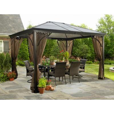 Sojag Inc Venetia Sunshelter Aluminum Steel Pc Roof
