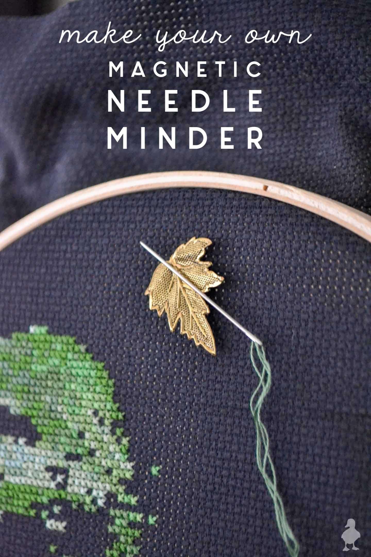 Needle Minder Diy : needle, minder, Magnetic, Needle, Minder, Cross, Stitch, Hoop,, Stitch,