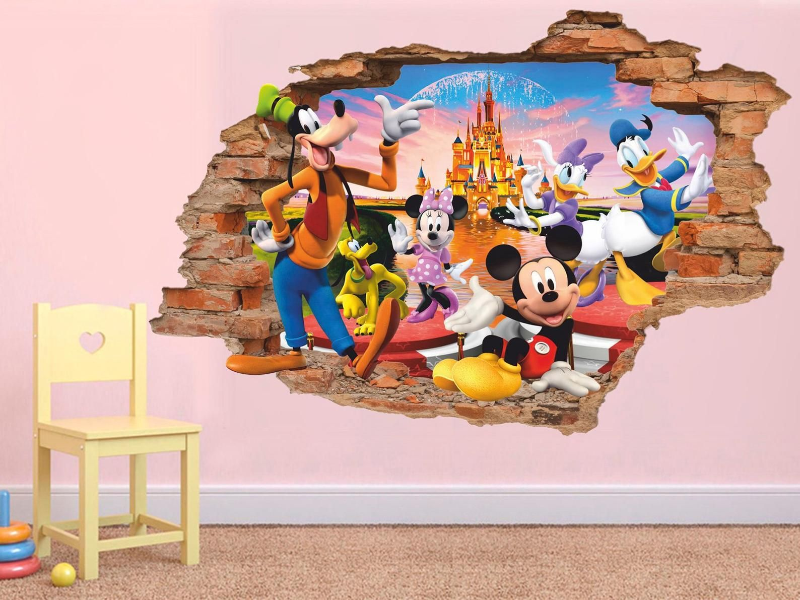 Mickey Mouse Goofey Donald Disney Children/'s Bedroom Decal Wall Sticker Picture