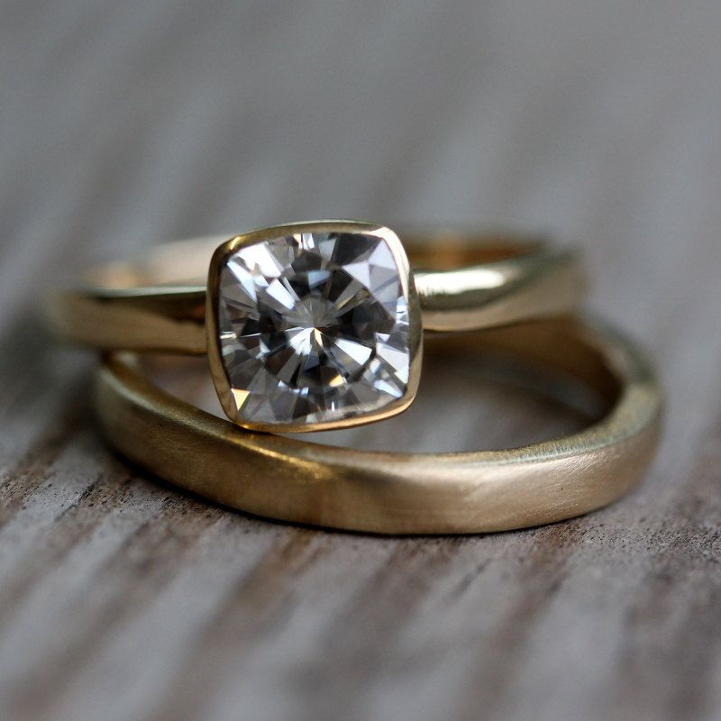 14k Gold Wedding Band. Gold Wedding RingsGold Engagement ...